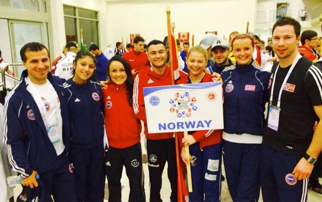 Shahwali sammen med resten av det norske laget i VM i Tyrkia 2013. Foto: Privat