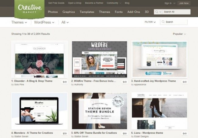 Creative wordpress design