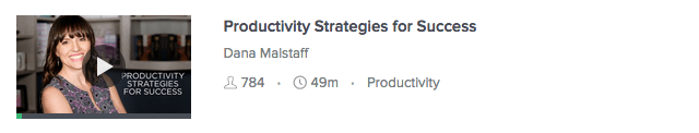 kurs i produktivitet