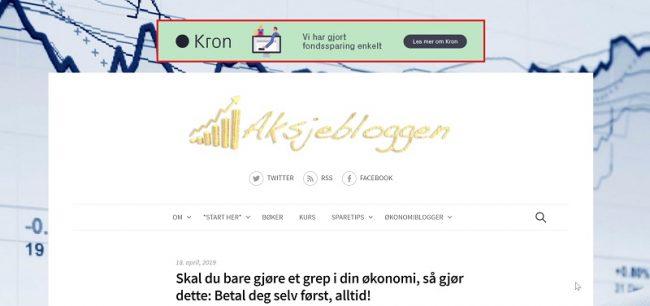 selge annonseplasser på bloggen
