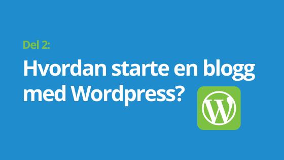 Hvordan starte blogg wordpress header